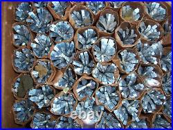 Htf 4 Ft Vtg Retro Silver Evergleam Stainless Fountian Poms Aluminum Xmas Tree