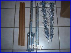 Htf Vtg 4 Ft Retro Silver Evergleam Stainless Fountian Aluminum Xmas Tree