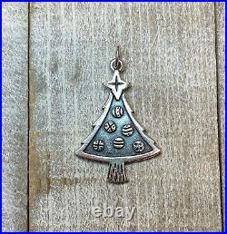JAMES AVERY RETIRED CHARM Christmas Tree With Ornaments, Sterling Silver
