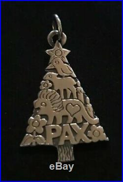 James Avery Retired Pax Animals Christmas Tree Pendant Sterling Silver