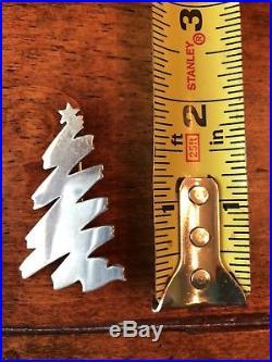 James Avery Retired Silver Zig Zag Christmas Tree Pin
