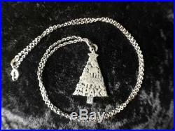James Avery Sterling Silver PAX Christmas Tree Winter Animal Pendant with Chain