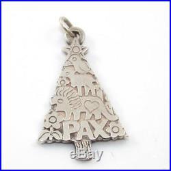James Avery Sterling Silver Pax Christmas Tree Animal Winter Pendant SEI