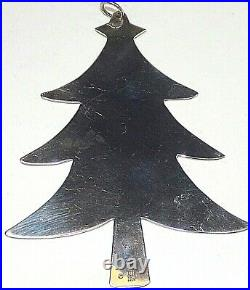 James Avery Sterling Silver Rare Retired Christmas Tree Ornament No Monograms