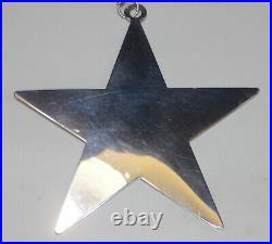 James Avery Sterling Silver Rare Retired Star Christmas Tree Ornament No Mono