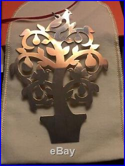 James Avery Sterling Silver Tree Christmas Ornament. 925