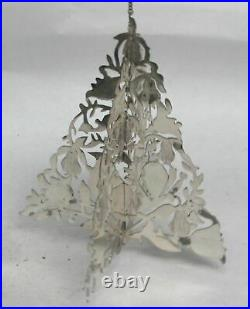 Janna Thomas 3d Sterling Silver Christmas Partridge In A Pair Tree Ornament
