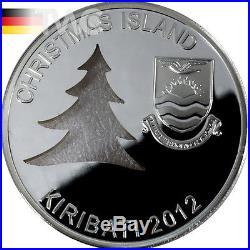 Kiribati 2012 20$ Christmas Tree 2 oz Proof Silver Coin
