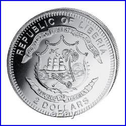 Liberia 2010 6x 2$ Tree Happy Christmas and New Year 6x 1/2 Oz Proof Silver Coin