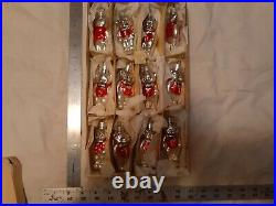 Lot of 12 Antique/Vintage Mercury Glass silver bears Christmas Tree Ornaments
