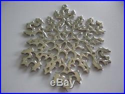 MIB Tiffany & Co. Christmas Tree Holiday Ornament Sterling Silver 925 SNOWFLAKE