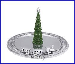 Mariposa Green Christmas Tree & Silver Train Server