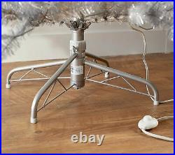 Martha Stewart 6.5' Pre-lit Designer Tinsel Tree Silver