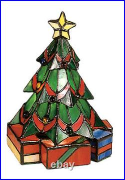 Meyda Festive 9H Christmas Tree Accent Lamp, Green Flame 12413