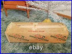 Mid Century Modern SILVER 7' ALUMINUM CHRISTMAS TREE 60s Taper Sears Ro. Vintage