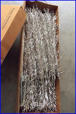 Mid Century Vintage 7.5 Stainless Aluminum Silver Christmas Tree Original Box