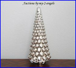 NEW Pottery Barn Christmas Vintage LARGE LIT MERCURY GLASS TREE Antiqued Silver