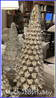 NIB Pottery Barn MERCURY GLASS LARGE Silver TREE CHRISTMAS SOLD OUT @ PB