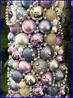 New Handmade Shabby Chic Purple Christmas Tree Centerpiece Holiday Decor