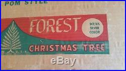New Old Stock Silver Forest Vintage Aluminum Christmas Tree 6 1/2