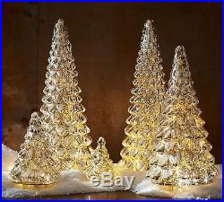 New Pottery Barn LIT MERCURY GLASS CHRISTMAS TREES Medium