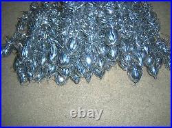 Nice Vtg 4 Ft. Aluminum Stainless Silver Evergleam Deluxe Fountian Xmas Tree
