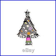 Nicky Butler 11.78ctw Multigemstone Sterling Silver Christmas Tree PinPendant