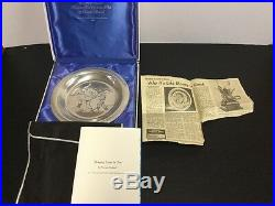 Norman Rockwell 1970 Solid Sterling Silver Bring Home the Tree Christmas Plate