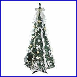 Northlight 6' Silver and Gold Pop-Up Artificial Christmas Tree Clear Lights