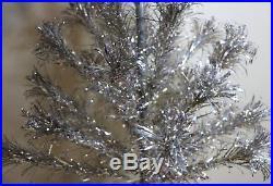 Original 1960's Evergleam Aluminum Christmas Tree 4' Pom Pom Ends Complete