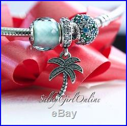Pandora Christmas Gift Set Sparkling Palm Tree Bead 791540CZ, 791261MCZM, 791499SG