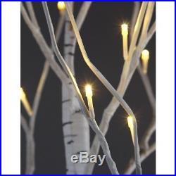 Patch Magic 7 ft. LED Lighted White Artificial Birch Christmas Tree with 120