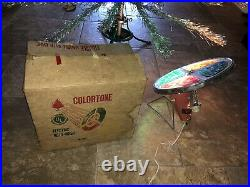 Post 1963 VINTAGE Silver ALUMINUM CHRISTMAS TREE 7FT. Tall 209 BRANCHES With Wheel