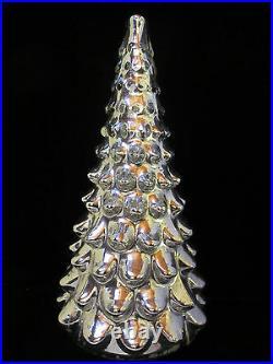 Pottery Barn Christmas MEDIUM SILVER MERCURY GLASS TREE NEW