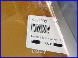 Pottery Barn Christmas Silver Antiqued Mercury Glass Lit Tree 18 Medium #6958