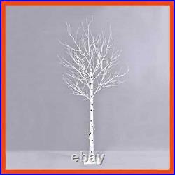 Prelit Birch Tree 96 Leds Light SILVER Twig Warm WHITE Branches 6 Ft Home Festiv