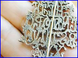 RARE Sterling Silver Alphabet Christmas Tree Pin Signed
