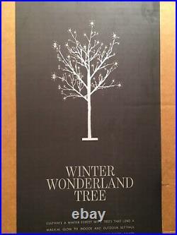 RH Restoration Hardware Winter Wonderland Tree Silver 5 Foot Tall Christmas NWT