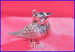 RM Trush Sterling Silver Song Bird Necklace Pendant or Christmas Tree Ornament