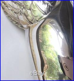 Rare Cazenovia Abroad RM Trush Silver Tiptoe Angel Christmas Tree Topper 9.5