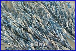 Rare Vintage Blue & Silver 41 Aluminum Christmas Tree Branches Fabulous EUC