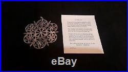 Rare Vintage Superb Set of 6 Solid Silver Christmas Tree Decorations