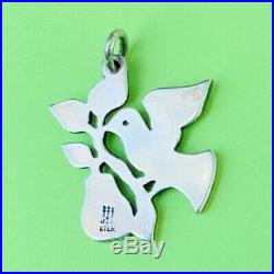 Retired James Avery Silver 925 Christmas Partridge in a Pear Tree Charm uncut