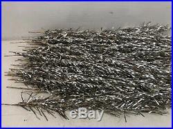 Retro Vintage 50s Mid Century 6 Sparkler Silver Aluminum Tinsel Christmas Tree