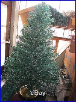 Revlis Starlite VTG 7' Green & Silver Aluminum Christmas Tree 196 Branches #15