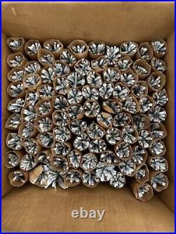 SEE DESC. Evergleam Aluminum Christmas Tree 7 Ft Pompom Silver 89 Branches Vint