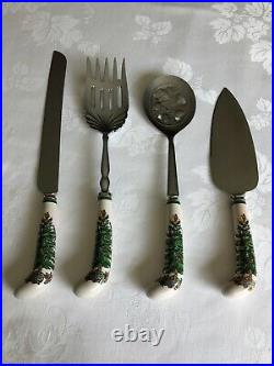 SPODE Wallace SS Christmas FLATWARE 12 Settings + 4 Serving Pieces + Spode Chest