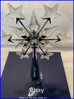 SWAROVSKI CHRISTMAS TREE TOPPER RHODIUM #632784 original box