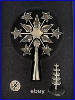 SWAROVSKI Christmas Tree Topper Retired 6 Unused Stand & Box Incl. Gift