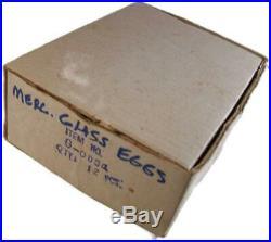 Set of 12 Silver Mercury Glass Christmas Tree Egg Shaped Ornaments
